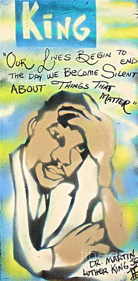 Dr. Martin Luther King Jr Painting - King's Dream by Tony B Conscious