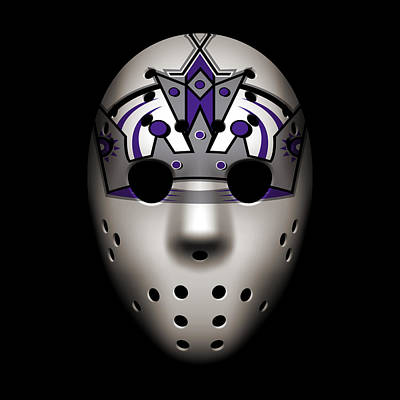 Kings Goalie Mask Art Print by Joe Hamilton