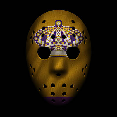 Hockey Photograph - Kings Jersey Mask by Joe Hamilton