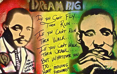 Dr. Martin Luther King Jr Painting - Kings Keep Moving by Tony B Conscious