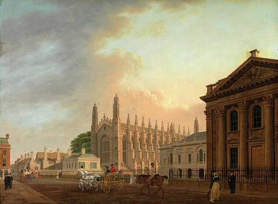 Cambridge Painting - Kings Parade, Cambridge, Thomas Malton The Younger by Litz Collection