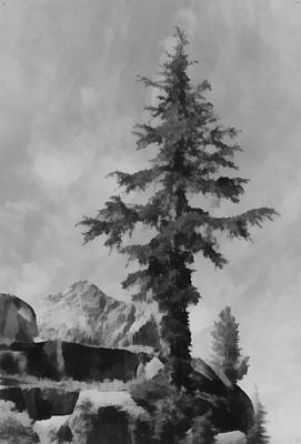 Digital Art - Kings River Canyon by Ansel Adams