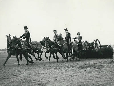 King�s Troop Of The R.h.a. Rehearse�. Even The Gun Goes Art Print by Retro Images Archive