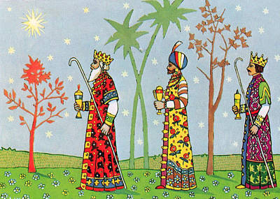 Sun King Photograph - Kings With Gifts by Munir Alawi