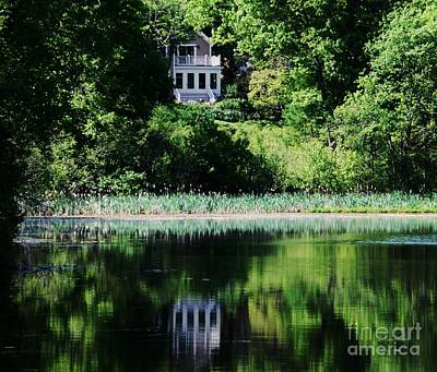 Reflections At Kingsbury Pond, Medfield  Art Print by Marcus Dagan