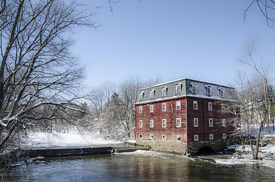 Kingston Mill In Winter - Princeton New Jersey Print by Bill Cannon