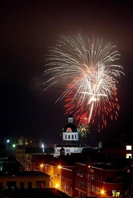 Kingston New Years Eve Fireworks Art Print by Paul Wash