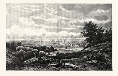Kingston, New York. Kingston Is A City In And The County Art Print by Kruseman Van Elten, American School