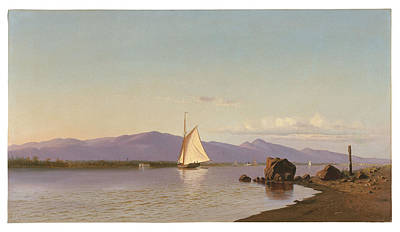 Kingston Point Hudson River Art Print by Francis Augustus Silva