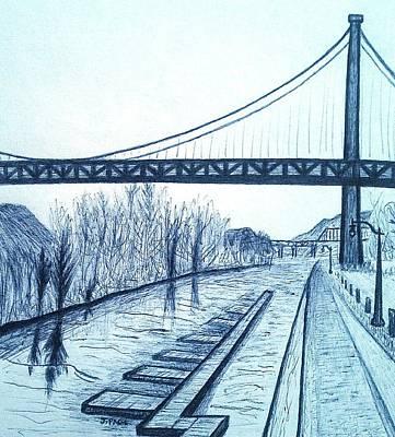 Accomplishments In Engineering Drawing - Kingston - Port Ewen Bridge 2 by Jason Page