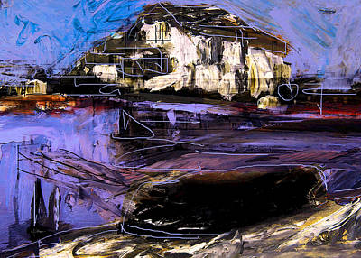 Mixed Media - Kingston Yacht Club by Jim Vance