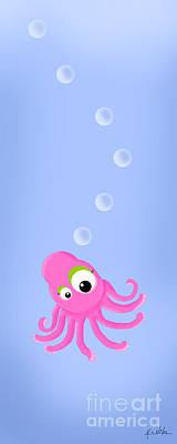 Kim Digital Art - Kiniart Octopus by Kim Niles