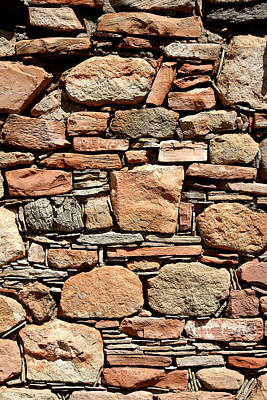Photograph - Kinishba Masonry by Joe Kozlowski