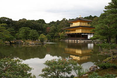 Photograph - Kinkaku-ji Golden Pavilion Kyoto Japan by Angela Bushman