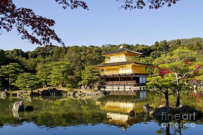 Kinkakuji Gold Pavilion Art Print by Eyal Bartov