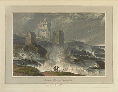 Kinnead Head In Aberdeenshire Art Print