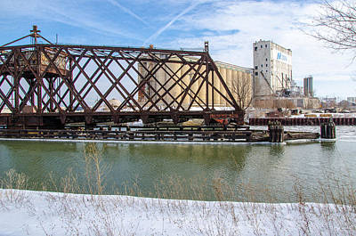 Photograph - Kinnickinnic River Swing Bridge  2 by Susan  McMenamin