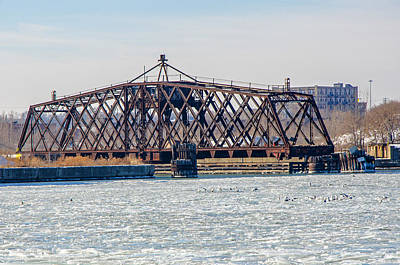 Photograph - Kinnickinnic River Swing Bridge by Susan McMenamin