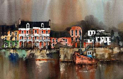 Painting - Kinsale Dusk West Cork by Val Byrne