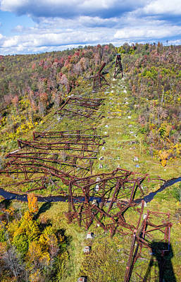 Kinzua Photograph - Kinzua Bridge Collapse by Steve Harrington