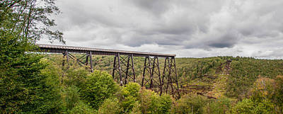 Kinzua Photograph - Kinzua Viaduct 3d21808p by Guy Whiteley