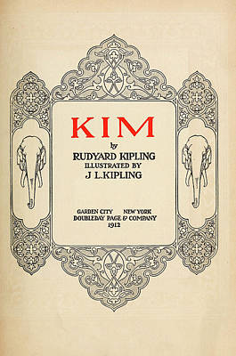 Book Title Painting - Kipling Kim, 1912 by Granger
