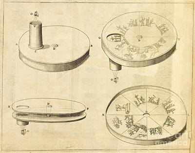 Magic Lantern Photograph - Kircher's Disc Viewer, 17th Century by Science, Industry And Business Library