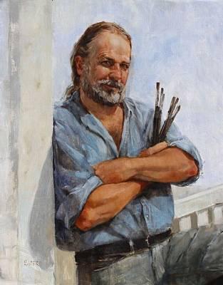 Painting - Kirk Larsen American Artist by Chris  Saper