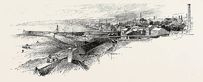 Fife Drawing - Kirkcaldy, From The South-east by Scottish School