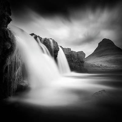 Mountain Stream Photograph - Kirkjufellfoss by Sebastien Del Grosso