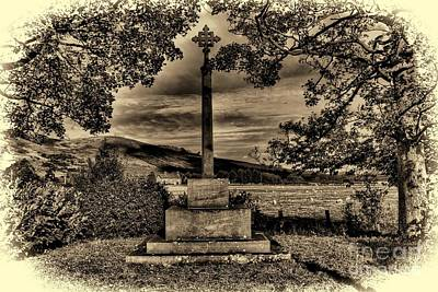 Kirknewton War Memorial Northumberland Art Print