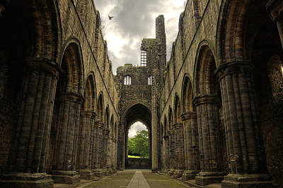 Gatehouse Photograph - Kirkstall Abbey by Pablo Lopez