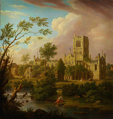 Painting - Kirkstall Abbey Yorkshire by Celestial Images