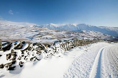 Drifting Snow Photograph - Kirkstone Pass by Ashley Cooper