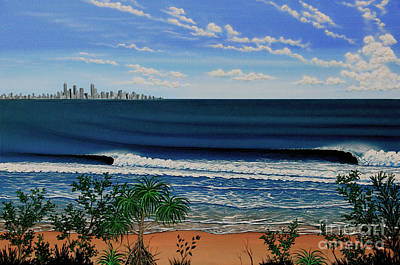 Kirra Point   Australia Print by Marty  Calabrese