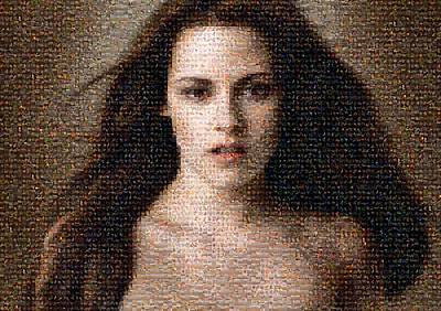 Celebrity Digital Art - Kirsten Stewart Mosaic by Bijan Studio