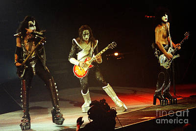 Ace Frehley Photograph - Kiss-3shot-0562 by Gary Gingrich Galleries