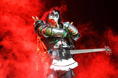 Cat Kiss Photograph - Kiss - 40th Anniversary Tour Live - Bloody Simmons by Epic Rights