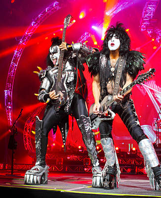 Rock Photograph - Kiss - 40th Anniversary Tour Live - Simmons And Stanley by Epic Rights