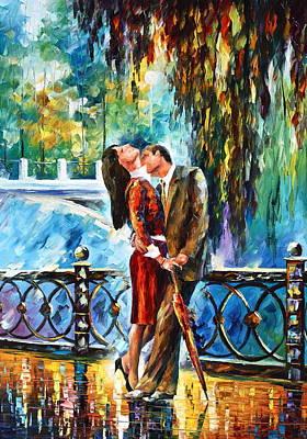 Kiss After The Rain New Art Print by Leonid Afremov