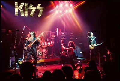 4 Aces Photograph - Kiss Alive 1974-75 by Edward Przydzial