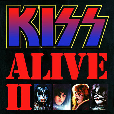 Kiss - Alive II Art Print by Epic Rights