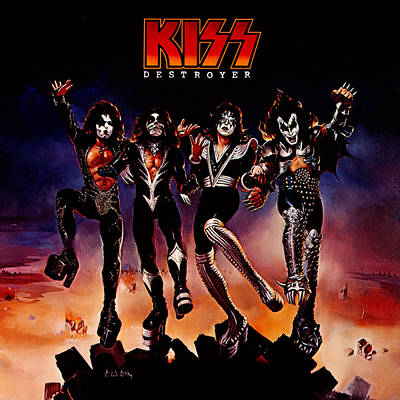Band Photograph - Kiss - Destroyer by Epic Rights