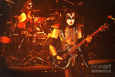 Ace Frehley Photograph - Kiss-gene-0564 by Gary Gingrich Galleries