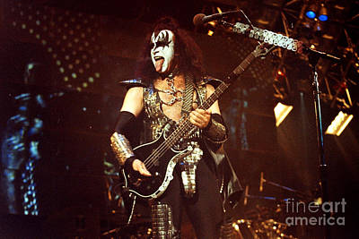 Concert Photograph - Kiss-gene-tongue-0535 by Gary Gingrich Galleries