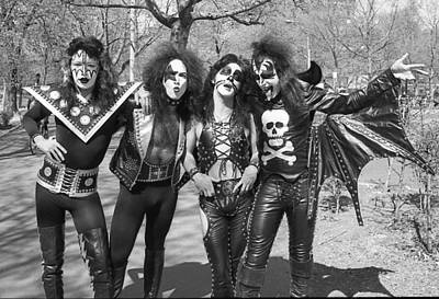Band Photograph - Kiss - Group Early Years by Epic Rights