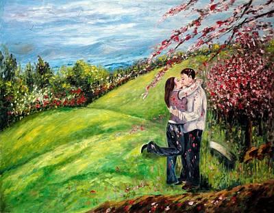 Miniature Painting - Kiss by Harsh Malik