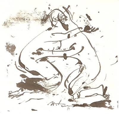 Male Nude Drawing Drawing - Kiss by Ivan Filichev