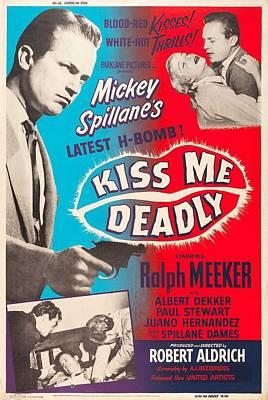 Kiss Me Deadly - 1955 Art Print by Georgia Fowler