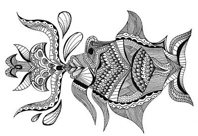 Kiss Me Don't Fish Me Art Print by Audrey Miller